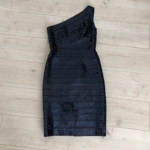 Herve Leger sequins dress